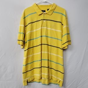 Izod yellow polo XXL striped